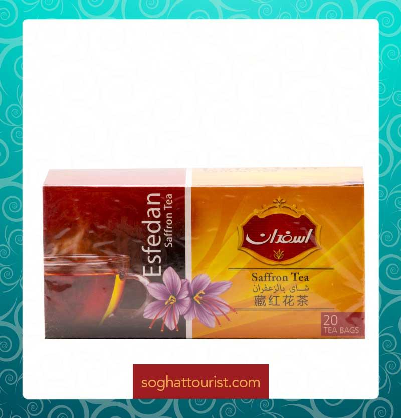 چای زعفران اسفدان