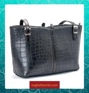 کیف دوشی زنانه چرم بزی پیتون