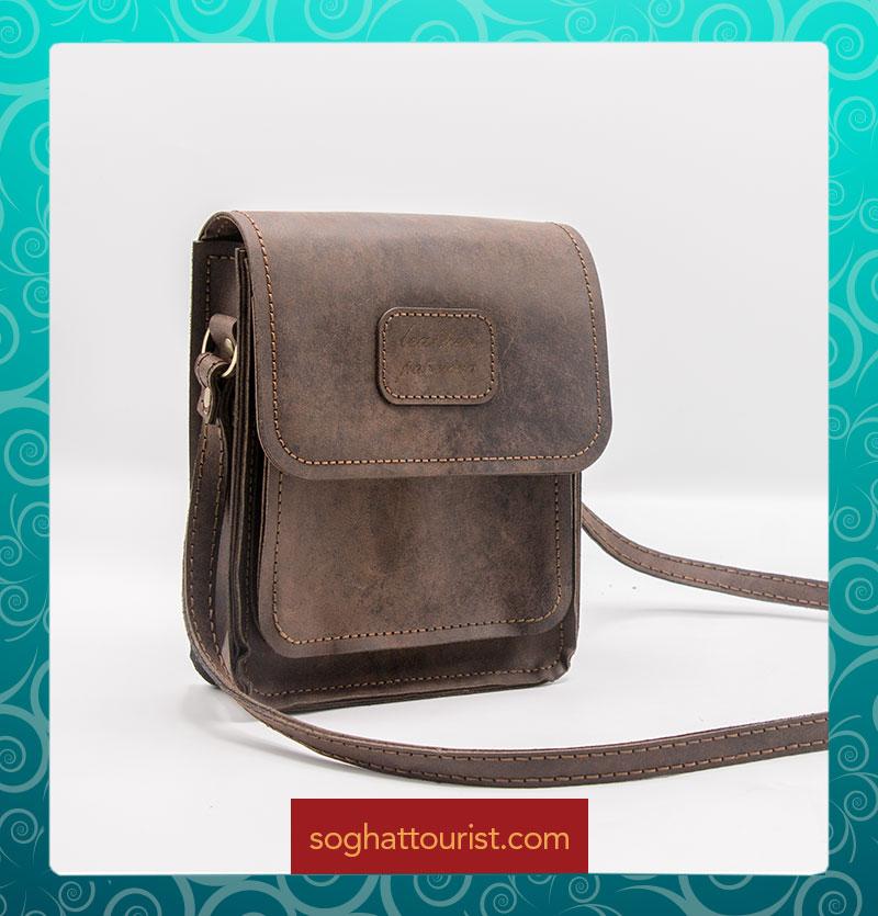 کیف پستچی چرم شتری