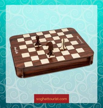 گز لقمه ای 30 درصد مغز پسته آنتیک طرح شطرنج