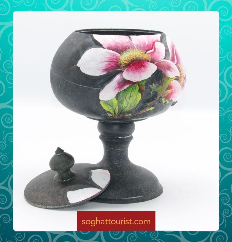 شکلات خوری سنگی طرح گل ماگنولیا